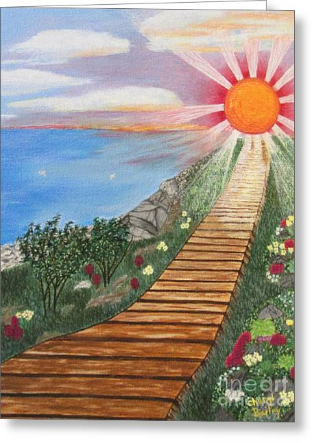 Greeting Card featuring the painting Waking Up Love by Cheryl Bailey