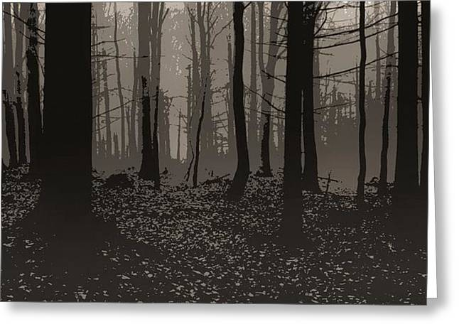 Wald Poster Greeting Card by Jaromir Hron