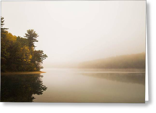 Walden Pond October Morning Greeting Card by Patrick Campagnone