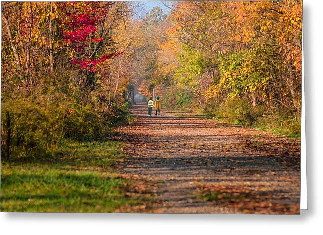Waling Into Fall Greeting Card by Mary Timman