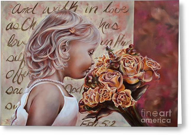 Walk In Love Greeting Card