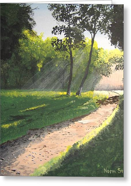 Walk Into The Light Greeting Card by Norm Starks