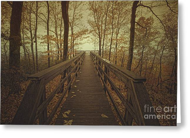 Walk Into The Mist Greeting Card