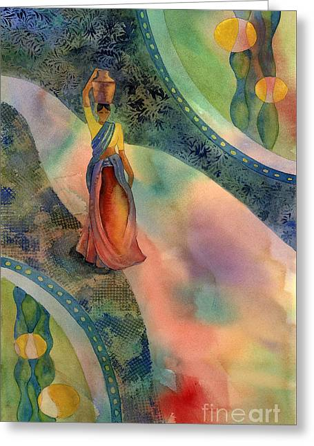 Walk Of Dawning Greeting Card by Amy Kirkpatrick