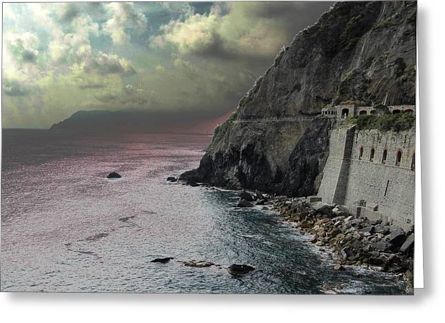 Greeting Card featuring the photograph Walk Of Love Riomaggiore by Natalie Ortiz
