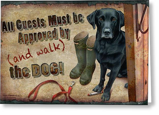 Walk The Dog Greeting Card by JQ Licensing