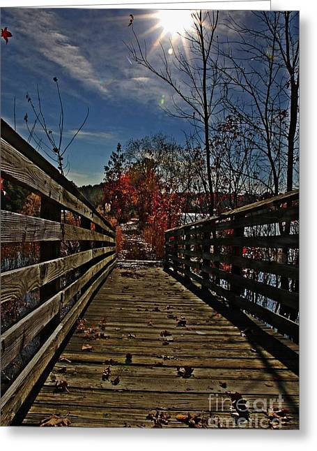 Walk The Line Greeting Card by Scott Allison