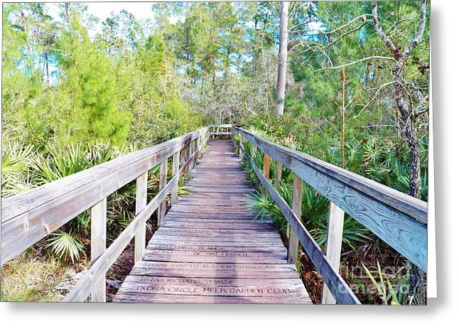 Walk This Way Greeting Card by Judy Via-Wolff