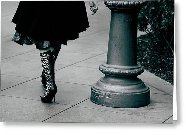 Walk This Way Greeting Card by Lorraine Devon Wilke