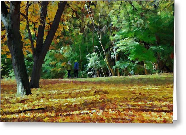 A Walk Through The Park Greeting Card