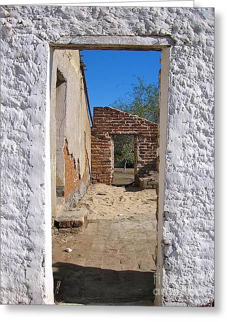 Walk Through Time - Todos Santos Greeting Card by Amy Fearn