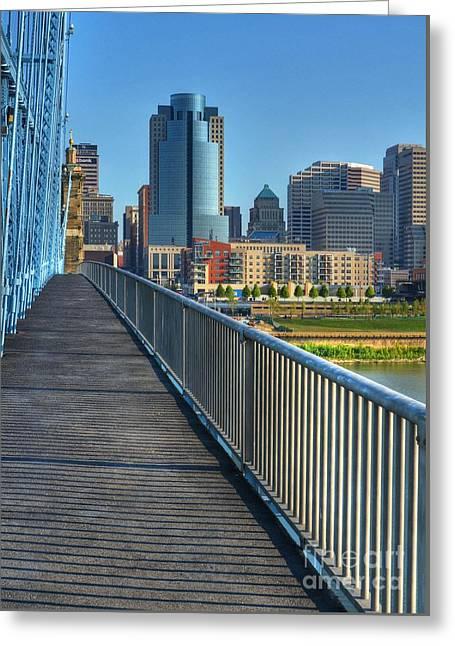 Walk To Cincinnati Greeting Card