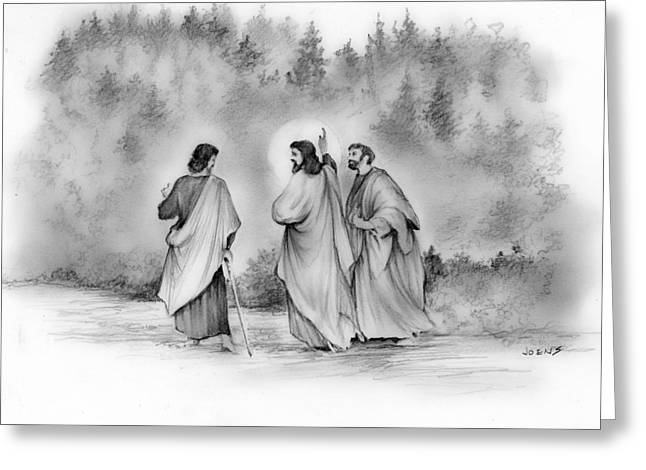Walk To Emmaus Greeting Card by Greg Joens
