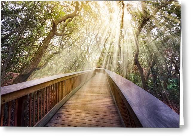 Walk With Me Greeting Card by Debra and Dave Vanderlaan