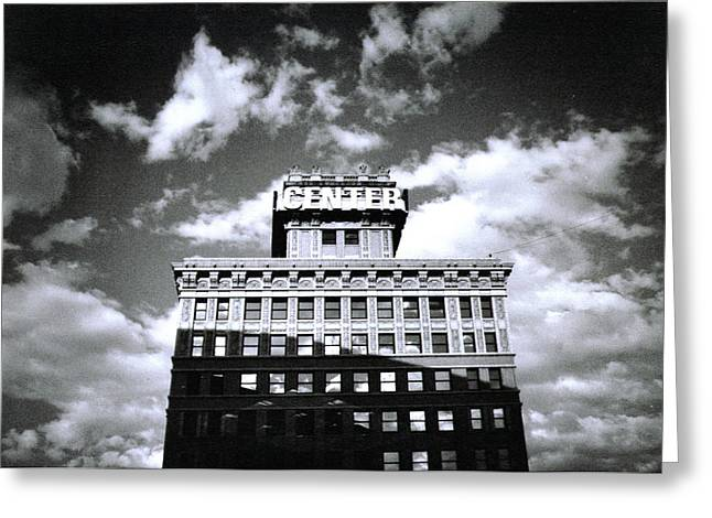 Greeting Card featuring the photograph Walker Building by Tarey Potter