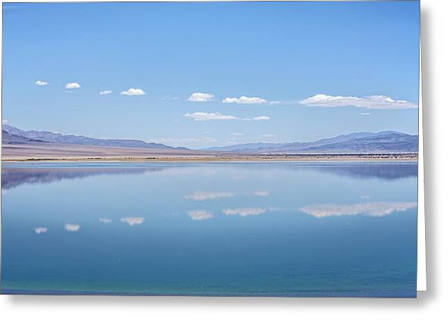Walker Lake Mirror Greeting Card by Jennifer Nelson