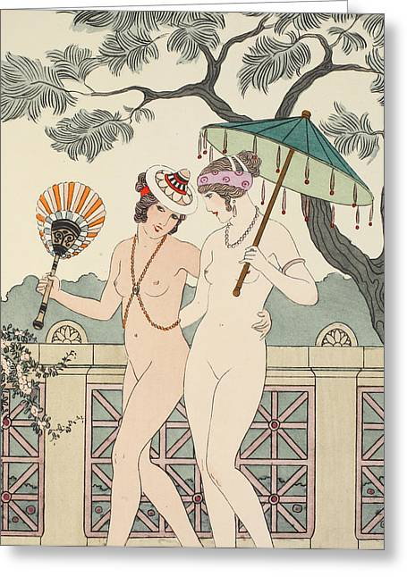 Walking Around Naked As Much As We Can Greeting Card by Joseph Kuhn-Regnier