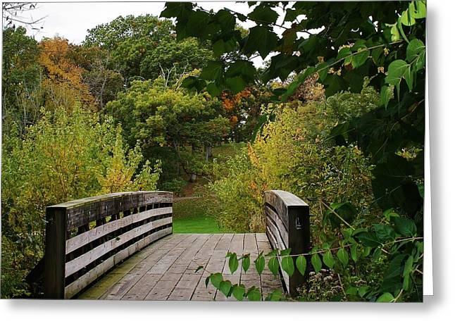 Walking Bridge Greeting Card