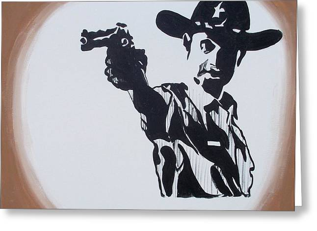 Walking Dead Rick Shoots Greeting Card by Marisela Mungia