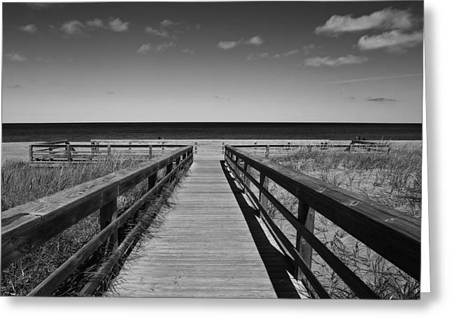 Walking Grand Marais  Mono Greeting Card