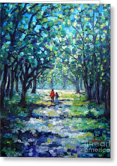 Walking In The Park Greeting Card