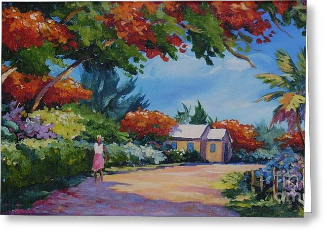 Walking In The Sunshine Greeting Card by John Clark