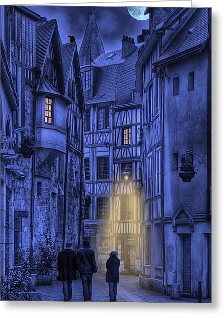 Walking Into The Past Greeting Card by Jean-Pierre Ducondi