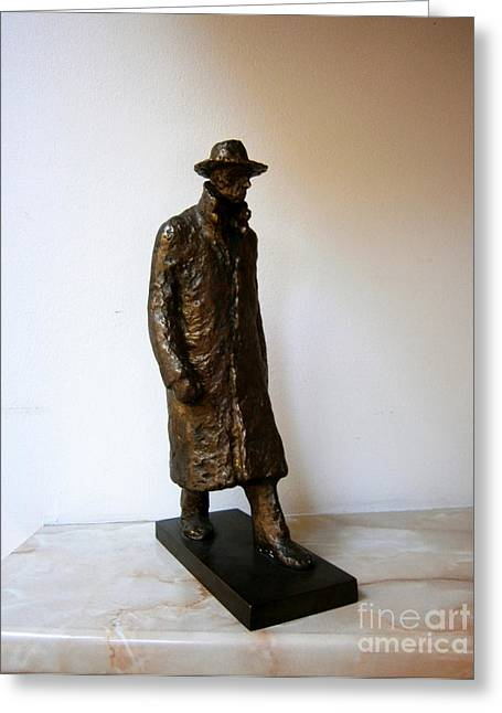 Walking Man Greeting Card by Nikola Litchkov