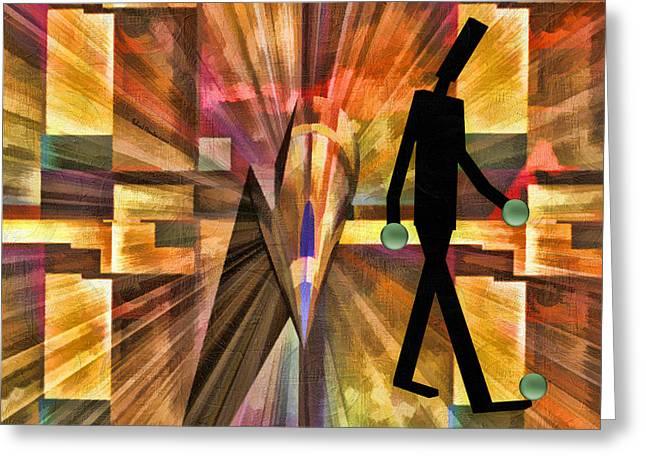 Walking Man Greeting Card by Robert Maestas