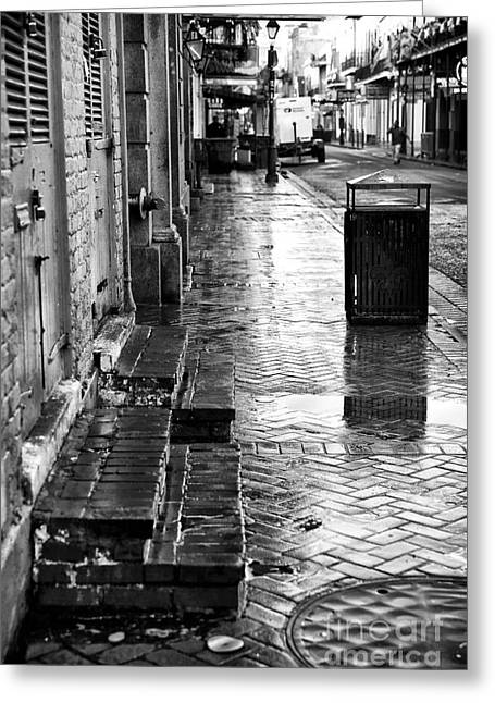 Walking On Bourbon Greeting Card by John Rizzuto