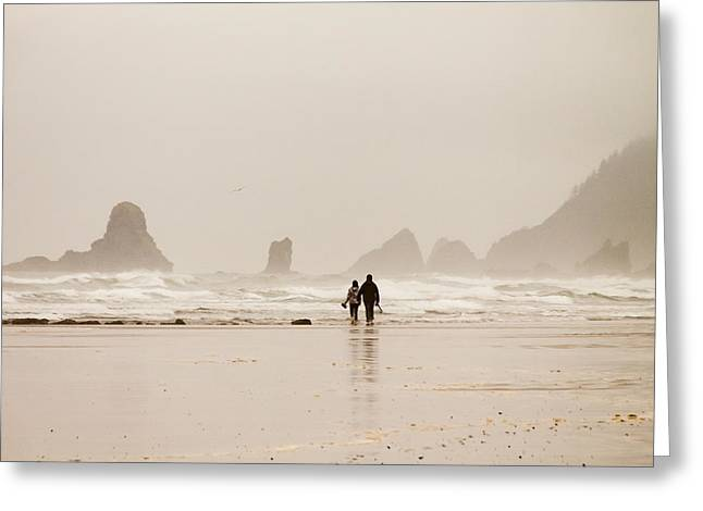 Walking On The Beach Greeting Card