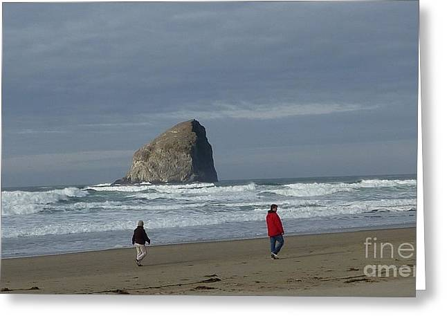 Greeting Card featuring the photograph Walking On The Beach by Susan Garren
