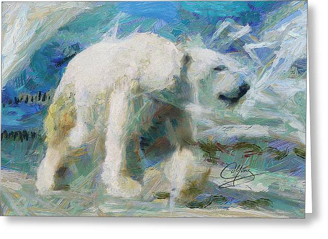 Greeting Card featuring the painting Cold As Ice by Greg Collins
