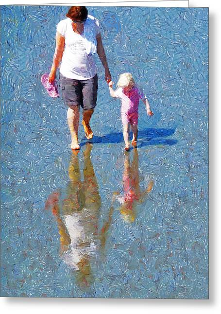 Walking On Water Greeting Card by Steve Taylor