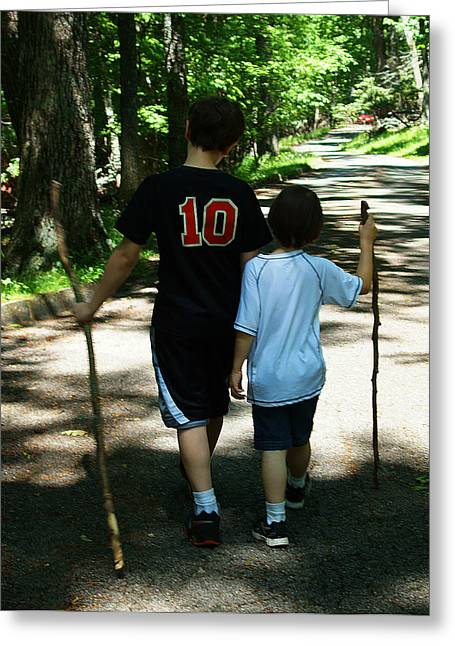 Greeting Card featuring the photograph Walking Sticks by B Wayne Mullins