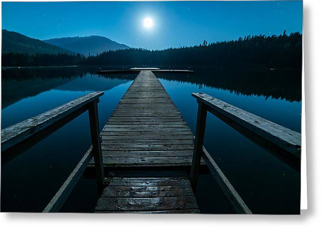 Walking The Dock Greeting Card by James Wheeler