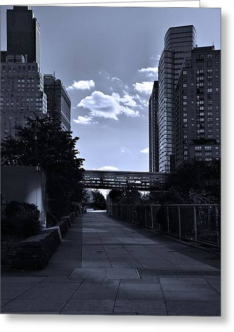 Walking The Streets In New York Greeting Card