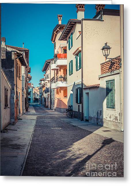 walking through Grado - through the past Greeting Card