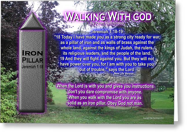 Walking With God Greeting Card