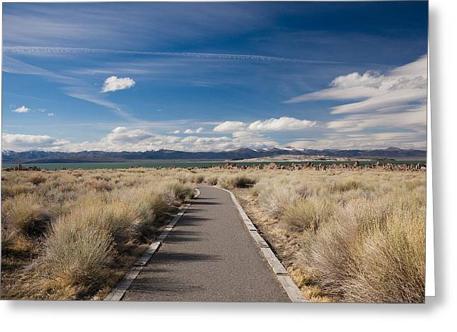 Walkway Leading To A Lake, Mono Lake Greeting Card