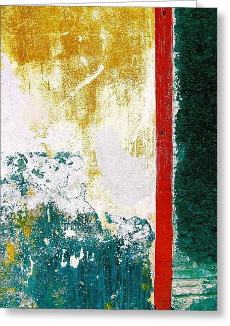 Greeting Card featuring the digital art Wall Abstract 71 by Maria Huntley