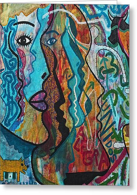 Wall-art 028 Greeting Card by Joachim G Pinkawa