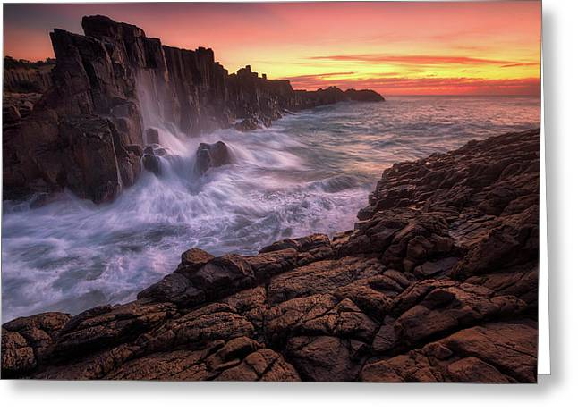 Wall By The Sea Greeting Card