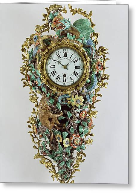 Wall Clock Pendule à Répétition Clock Movement Greeting Card by Litz Collection