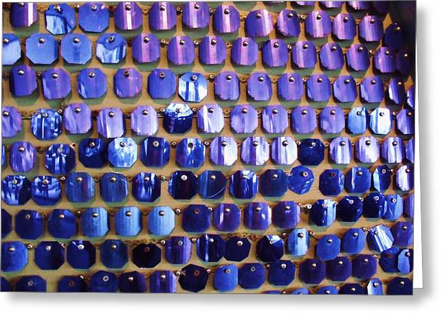 Wall Of Blue Greeting Card by Anna Villarreal Garbis