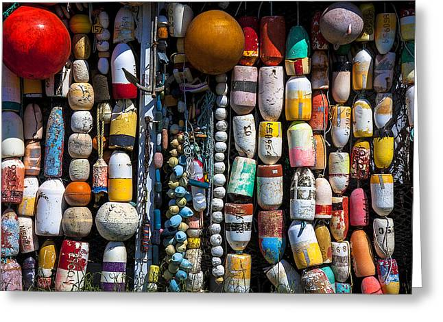 Wall Of Fishing Buoys Greeting Card by Garry Gay