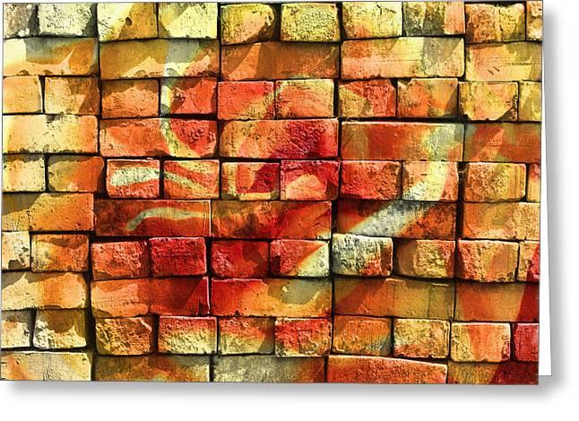 Wall Of Graffiti Abstract Greeting Card by Georgiana Romanovna