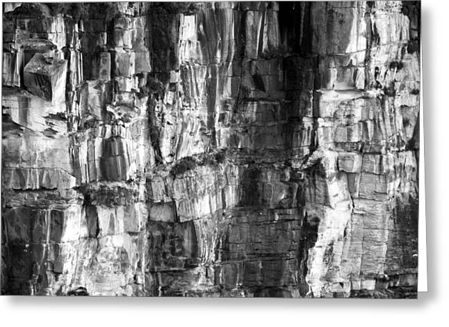 Greeting Card featuring the photograph Wall Of Rock by Miroslava Jurcik