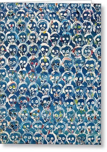 Wall Of Skulls Greeting Card by Fabrizio Cassetta