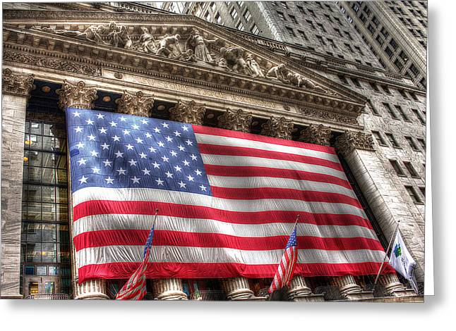 Wall Street Glory Greeting Card by William Fields